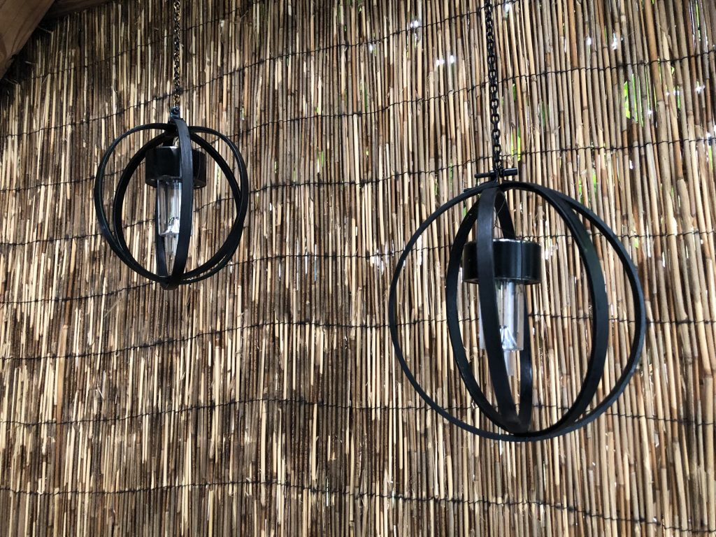 Light up your patio with orb solar lights made out of embroidery hoops DIY