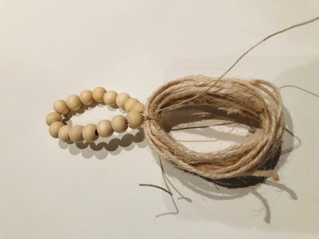 Wooden beads with tassel diy