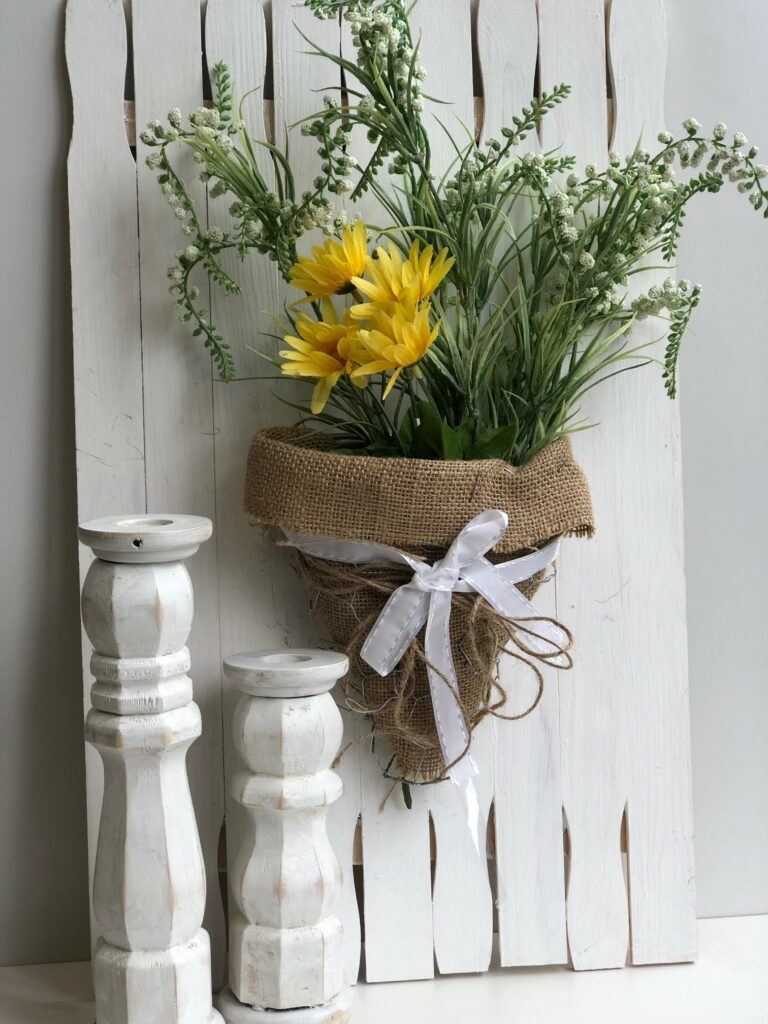 Paint Stir Sticks board to display your seasonal decor.