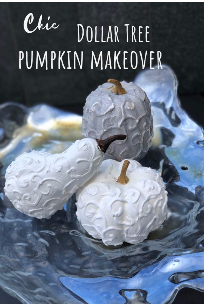 Learn how to turn Dollar Tree pumpkins into One Chick Fall Decor. Easy to follow directions.