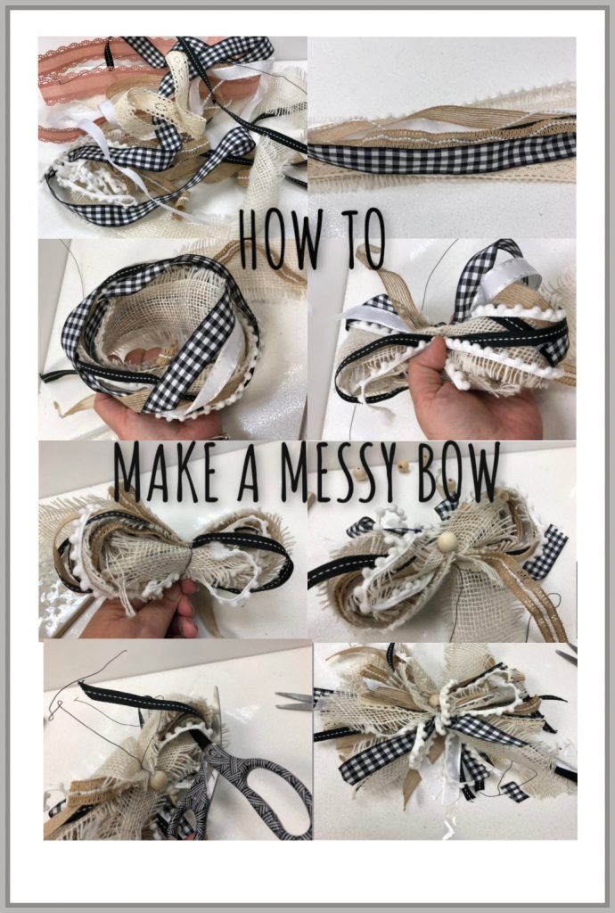 Learn how to recycle your ribbon and create your stunning MESSY BOW to decorate you house.