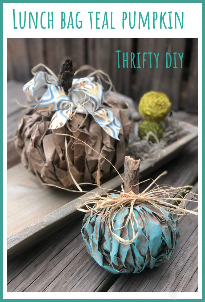 The Teal Pumpkin Project was born out of the need to keep 6 million children with food allergies safe on Halloween. Let's make those pumpkinsTeal Pumpkin Project! Brown paper fall decor diy.  Teal easy pumpkin diy. Messy bow. Paper fall decor pumpkin diy