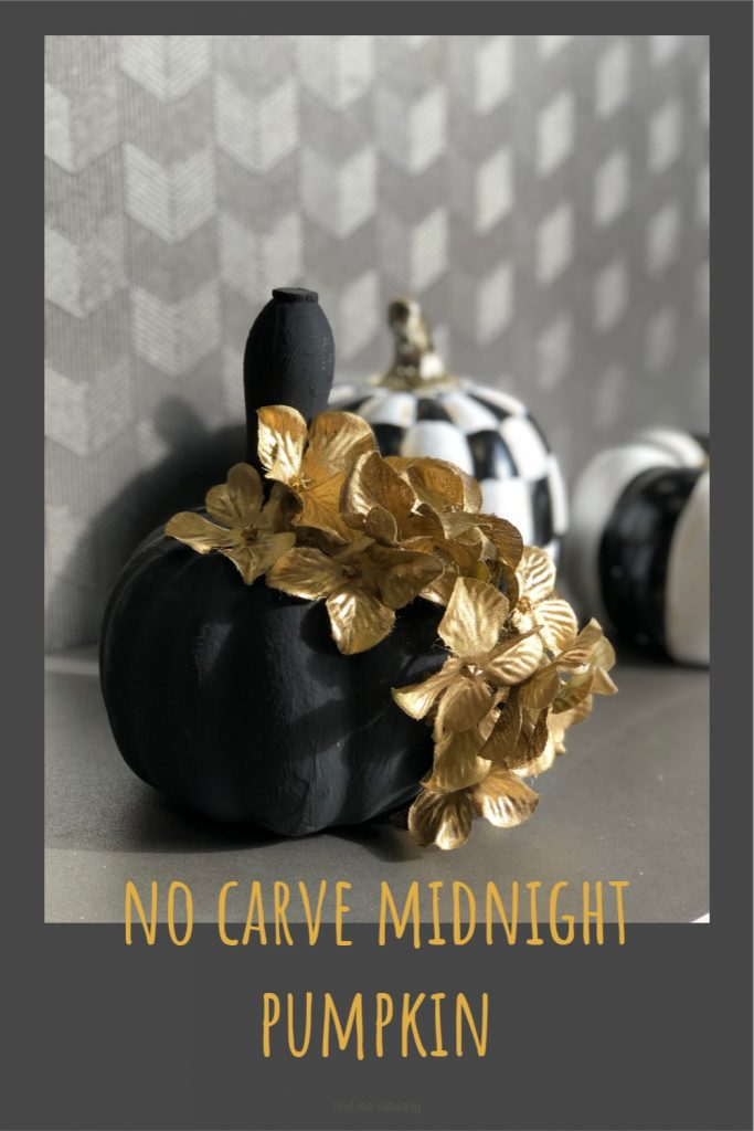 Another DIY pumpkin coming your way today! No carve fall pumpkin.  This one is going to be a the perfect mix of sweet & spooky! That is my way I like to decorate for Halloween!