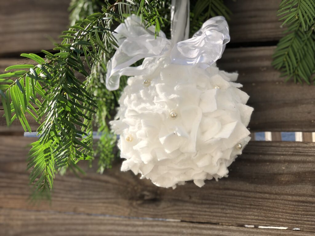 Elegant white Christmas ornament