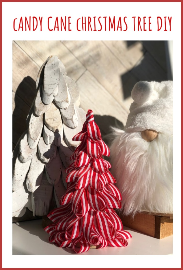 Learn how to make Candy Cane Christmas Tree. Kids friendly DIY project. Super easy directions. Christmas craft DIY