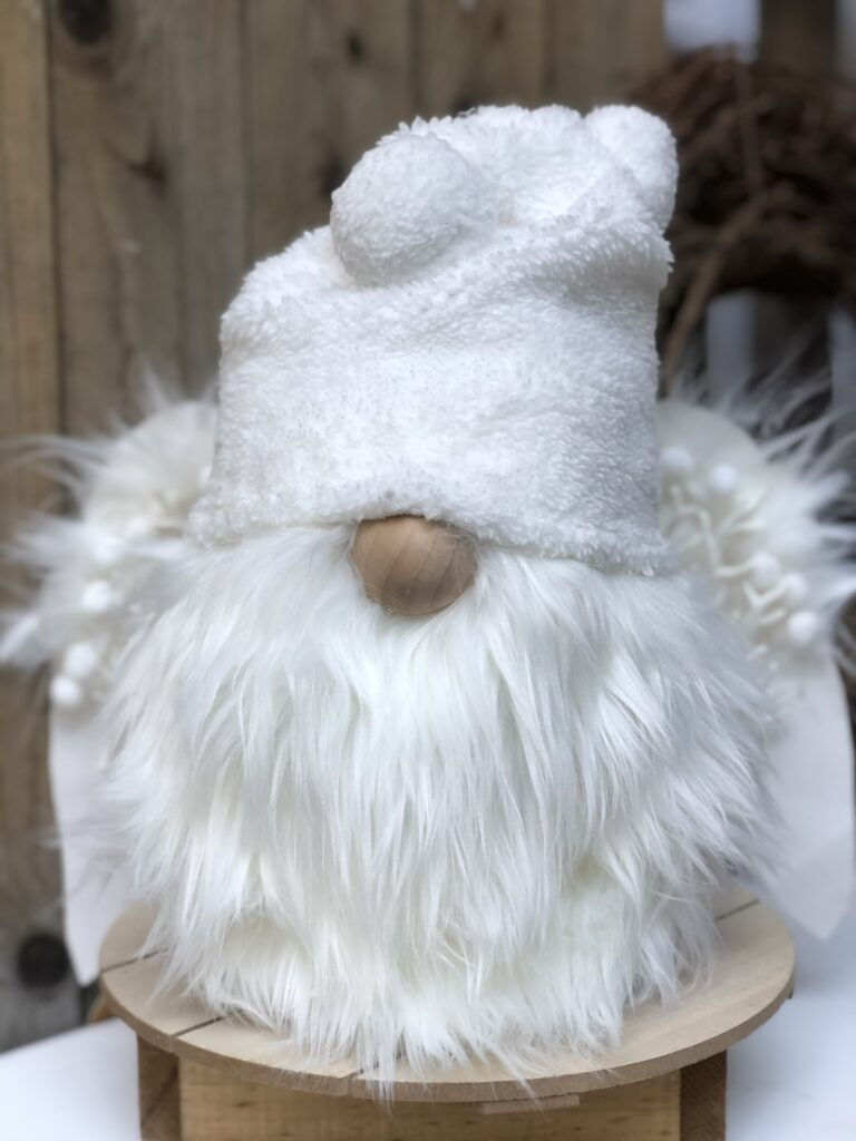 Learn how to make a easy Gnome. Christmas Snow White Gnome DIY. Perfect budget friendly way to decorate your house this holiday season, Angel Gnome DIY