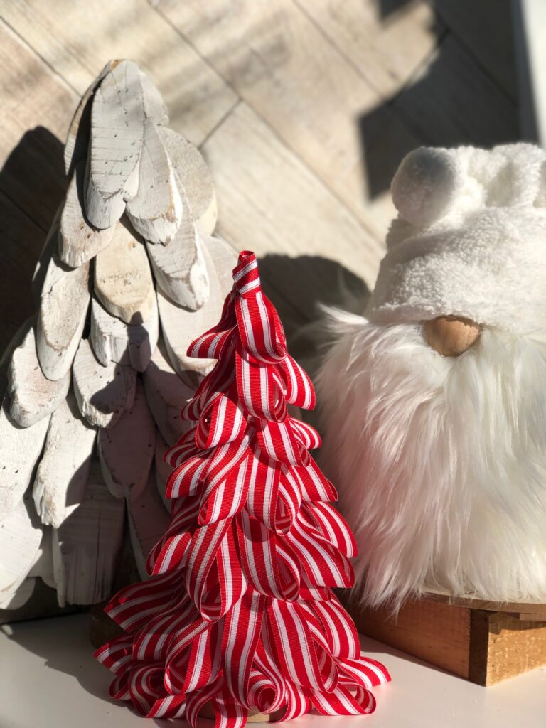 Learn how to make Candy Cane Christmas Tree. Kids friendly DIY project. Super easy directions. Christmas craft DIY  Angel Gnome diy