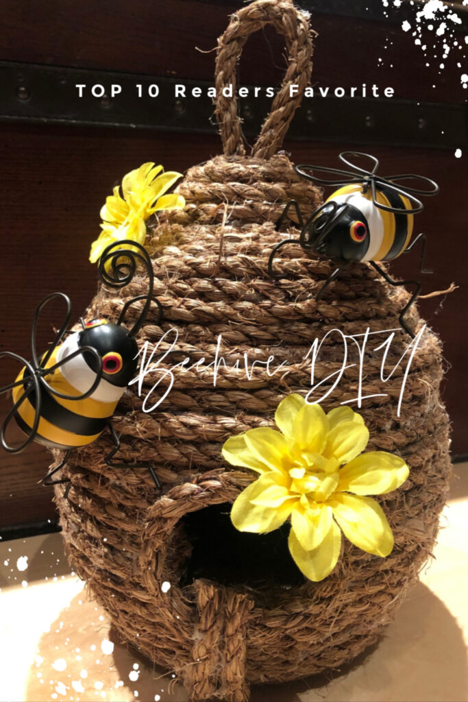 Learn how to make super cute budget friendly Beehive out of rope! Perfect accent for your house in any style! Easy to make project Top 10 best reads of 2019