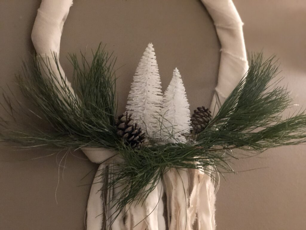 Evergreen Farmhouse Boho Wreath is the only one you need all year round. Just add your seasonal decor and you are good to go