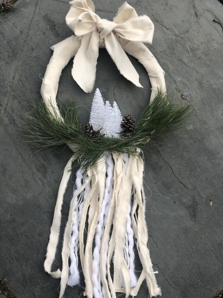 Evergreen Farmhouse Boho Wreath is the only one you need all year round. Just add your seasonal decor and you are good to go .Farmhouse wreath
