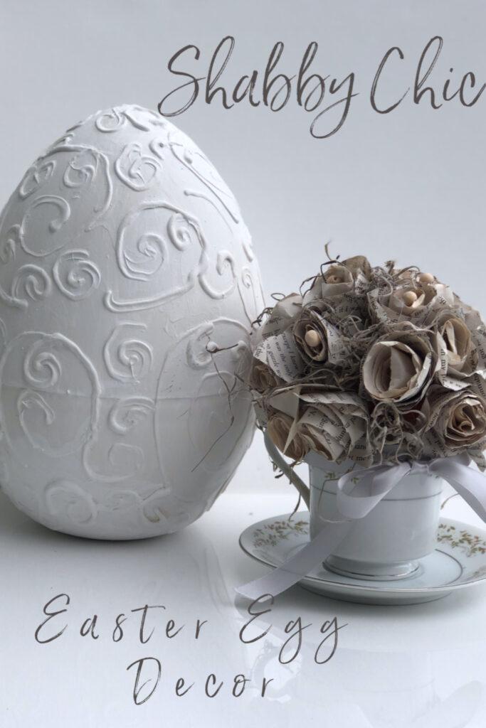 Dollar Tree egg decorating diy . Shabby Chic Easter decor. Budget friendly Easter idea.
