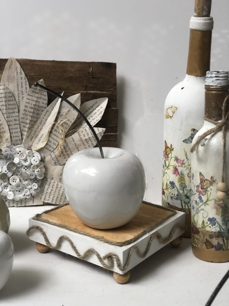 Decoupage is super fun paper craft. Let's turn our glass bottle into Shabby Chic decoupage home decor accent