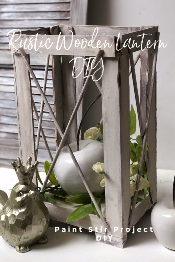 Learn how to make an easy wood lantern. Rustic Wood Lantern under $3 out of paint stir sticks. Dollar Tree home decor diy .Paint stir sticks lantern diy