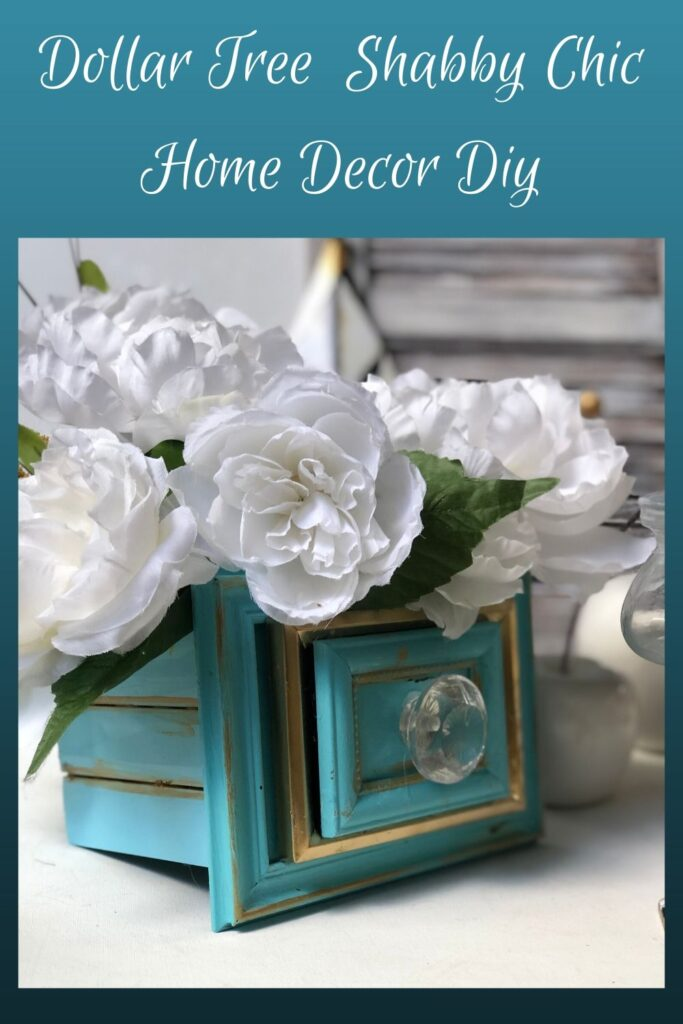 Chic Home Decor idea that is a MUST to make. Dollar Tree Picture frames drawers diy. Flowers planter DIY. Succulents drawers planter. How to build drawers