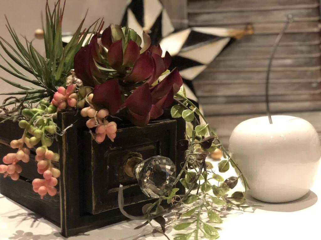 Thanksgiving succulent centerpiece