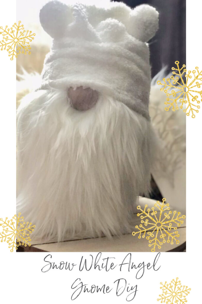Learn how to make a easy but really Snow White Angel Christmas Gnome diy. Christmas decor . Christmas crafts. How to make a gnome hat