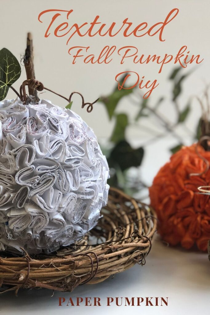 Learn how to put your recycle paper into work in you fall decor. Let's make stunning paper pumpkin out of junk mail. Easy pumpkin DIY