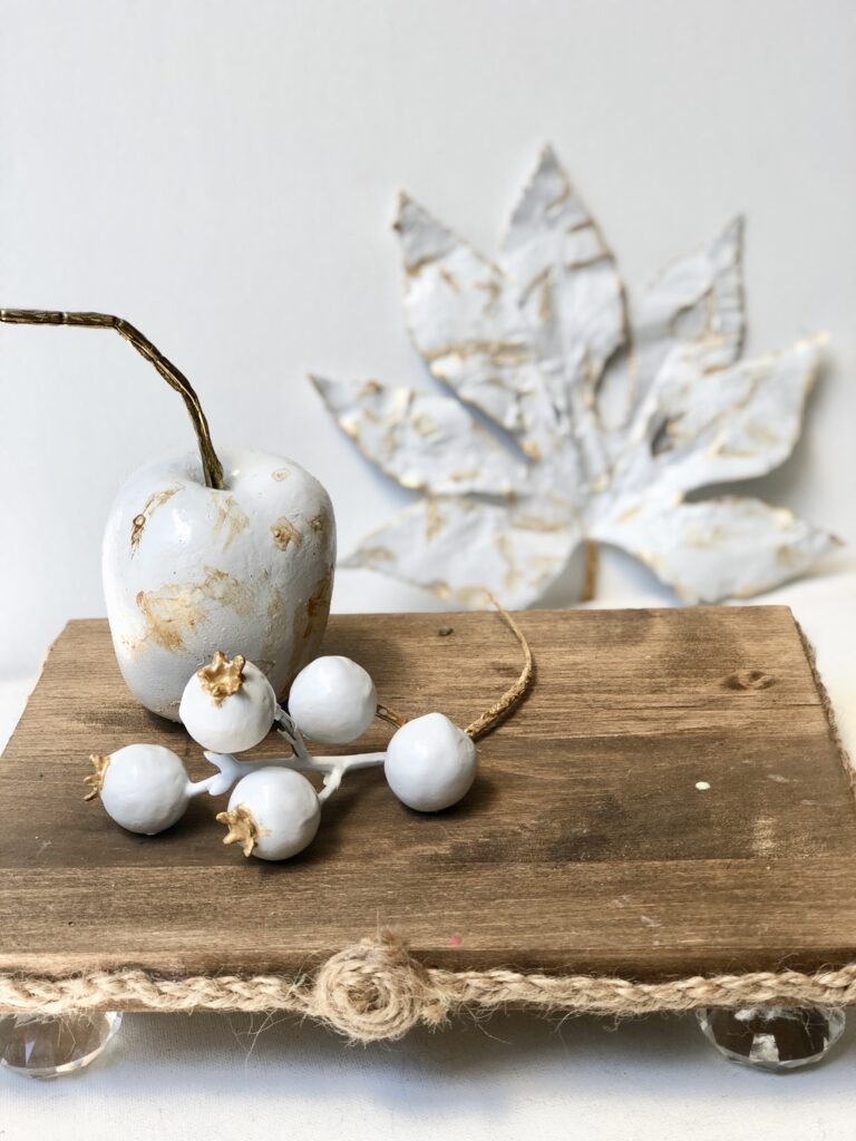 Turn you Dollar Tree items to lifetime elegant home decor. Plaster of Paris home decor diy. plaster apples. Dollar Tree craft