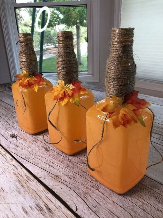 Turn your bottles into cutest pumpkins