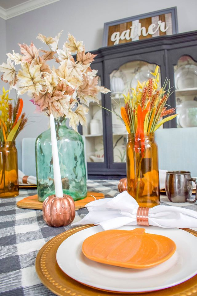 Perfect Budget Friendly Fall Centerpieces diy