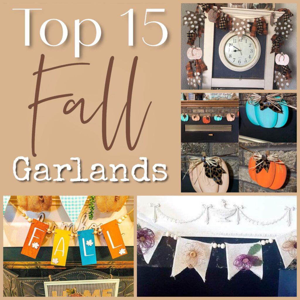 Fall Garland Galore ! Easy to make. Fall mantel decor inspirations