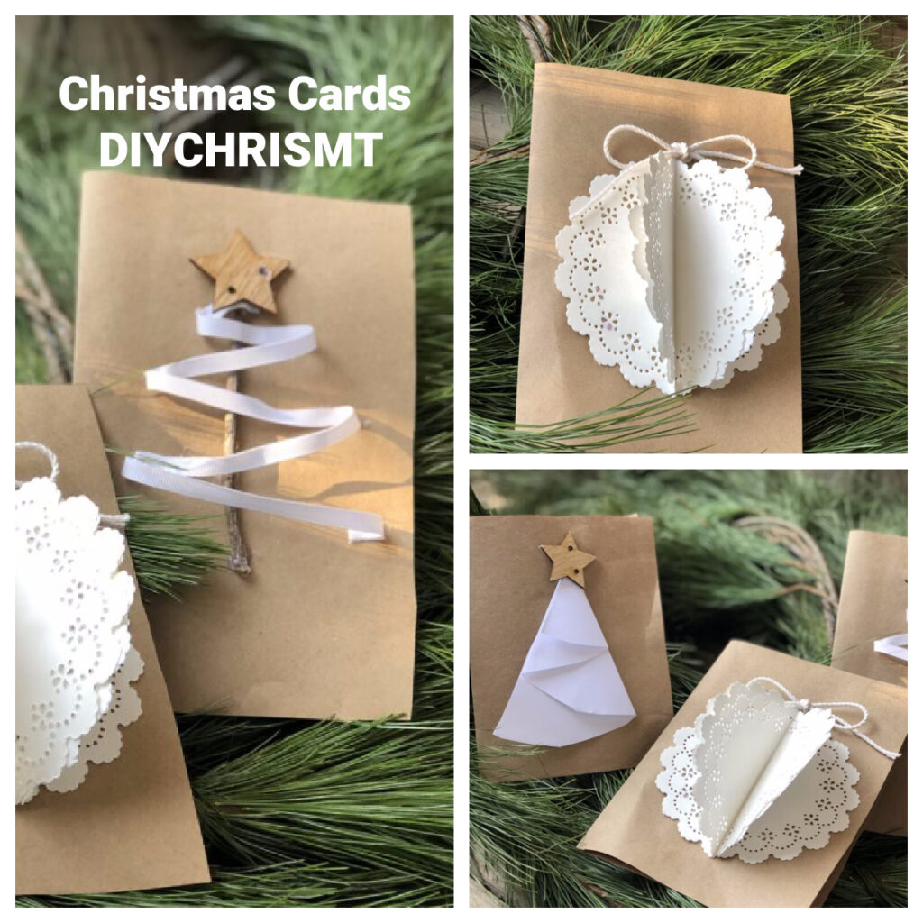 Learn how to make your own budget friendly super easy Christmas cards for your family.Paper folding Christmas Cards