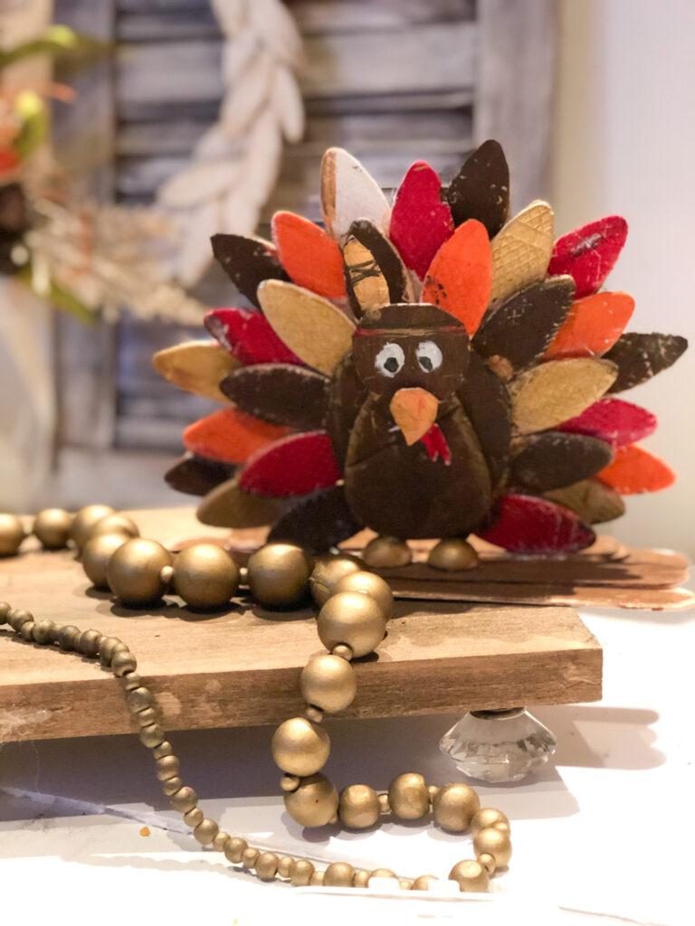 wood biscuits crafts. Thanksgiving craft idea