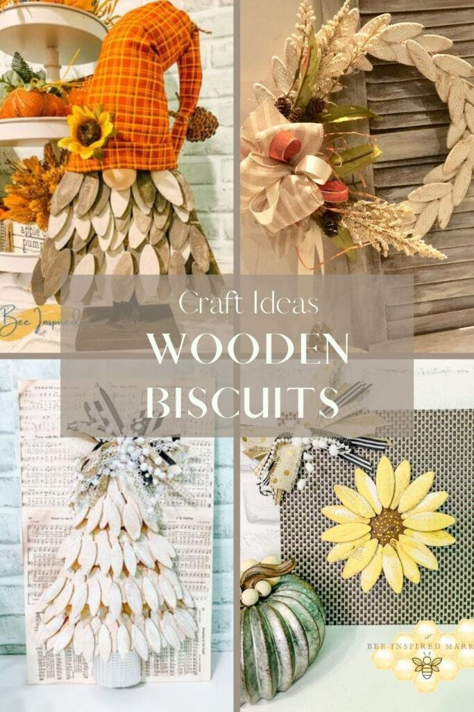 Learn how to make weaved wooden biscuits wreath. Wood biscuits crafts. Easy wooden biscuits evergreen wreath with bow