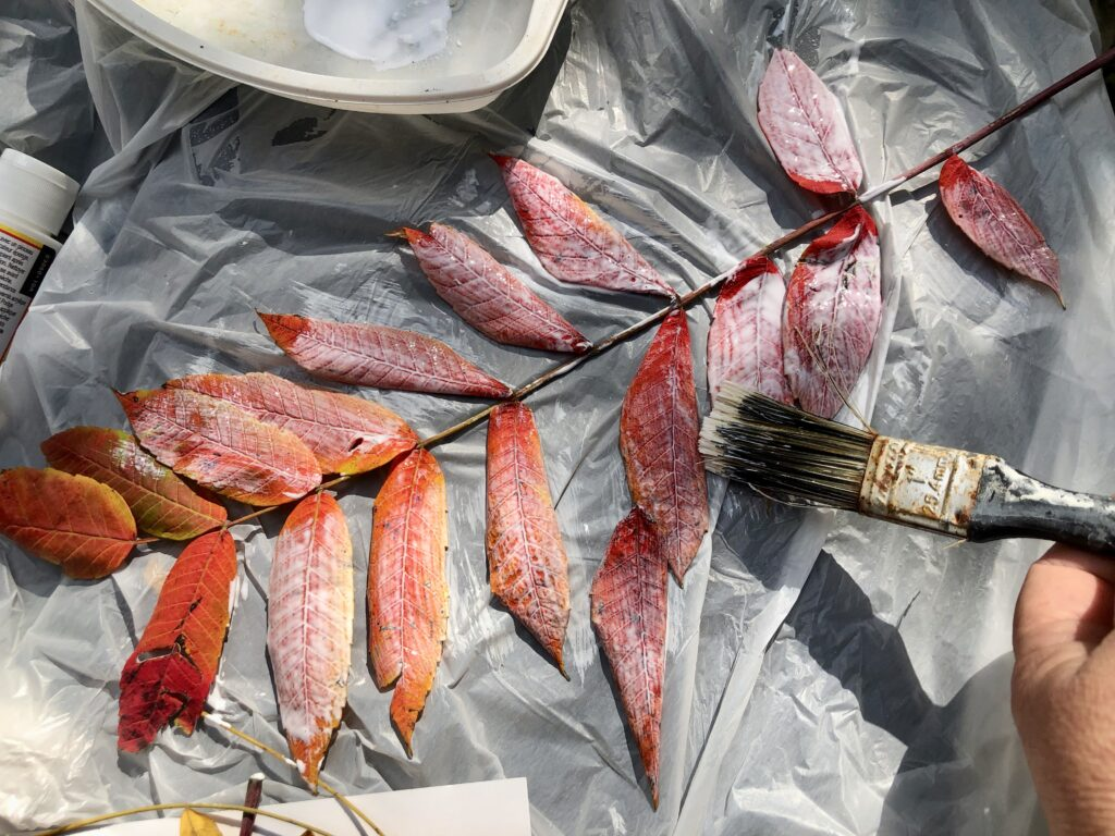 Learn how to preserve your fall leaves for crafting in one easy process. Fall crafting with leaves. Fall craft