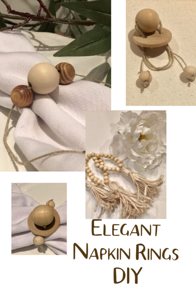 Looking for Thanksgiving Tablescapes ? I got couple for you. Quick and easy Wooden Beads Napkins Rings in 3 different ways. Tablescape ideas Holiday table. Christmas . Thanksgiving tablescapes idea