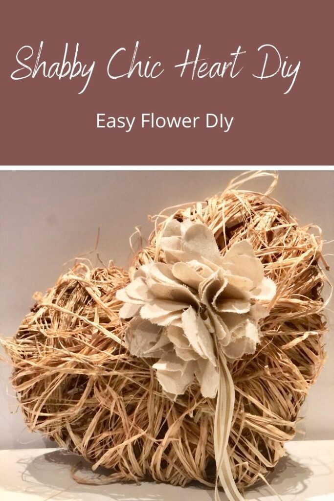 Let's turn Dollar Tree hearts into one stunning Shabby Chic Valentines Day decor. How to make easy flower out of drop cloth