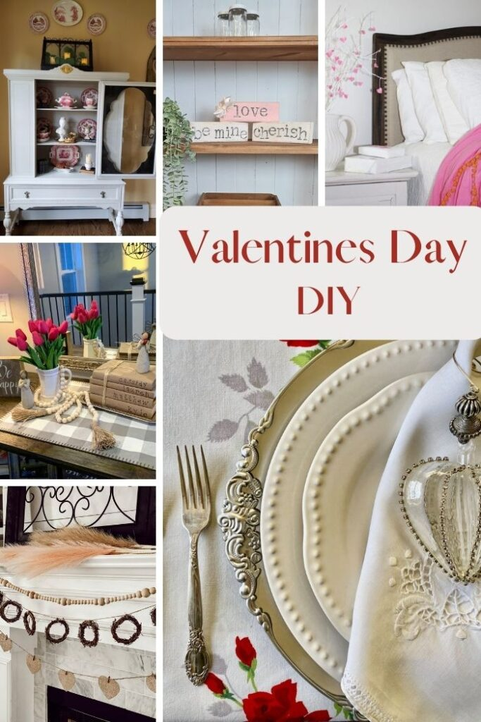 Shabby Chic heart Valentines Day decor. Raffia heart diy. How to make easy flower out of drop cloth. Dollar Tree craft