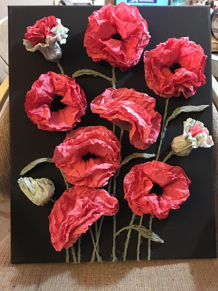 Learn how to make beautiful coffee filter poppies. Poppy paper flower diy. Paper crafting. Easy coffee filter craft