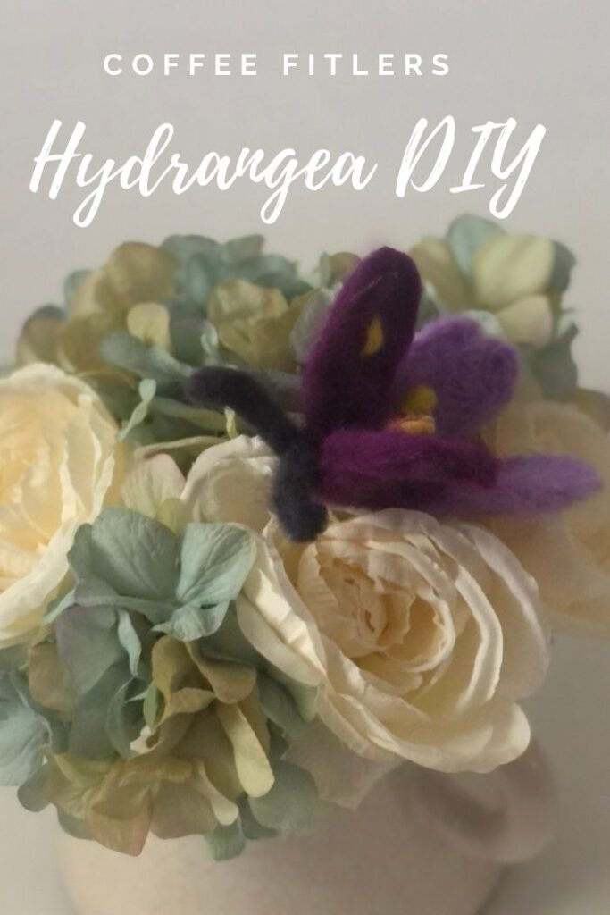 coffee filters hydrangea clusters easy tutorial