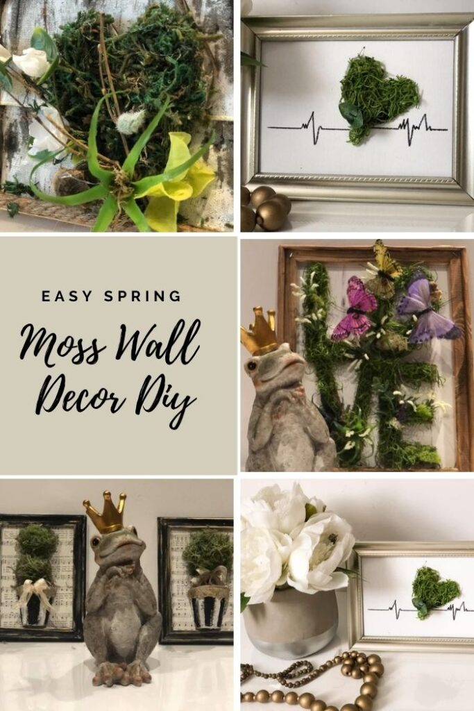 You must make those beautiful but super easy everlasting moss projects Moss projects are fun and so easy to make. Instant gratitude guaranteed. Moss wall decor idea. Earths Day diy for evergreen decor.
